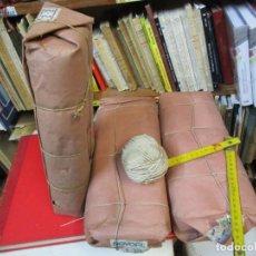 Antigüedades: 3 PAQUETES CON 10 BOBINAS CADA UNO, CUERDA BRAMANTE NATURAL, APROX 1930, 1KG 1.5MM, NO OFERTAS.. Lote 244688935