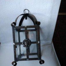 Antigüedades: FAROL DE FORJA ANTIGUO. Lote 244731430