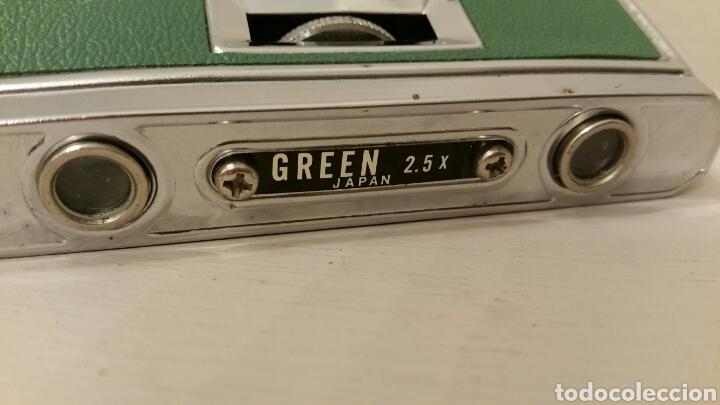 Antigüedades: Antiguos Anteojos (prismáticos) de teatro. GREEN - 2,5 X 25 mm. Plegables compact. (Japan) Años 70. - Foto 5 - 244757550