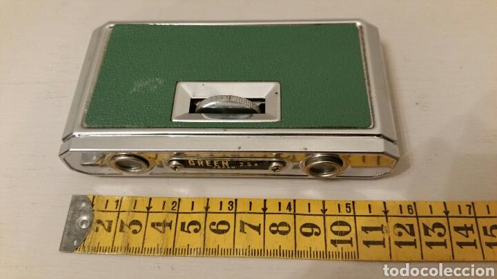 Antigüedades: Antiguos Anteojos (prismáticos) de teatro. GREEN - 2,5 X 25 mm. Plegables compact. (Japan) Años 70. - Foto 8 - 244757550