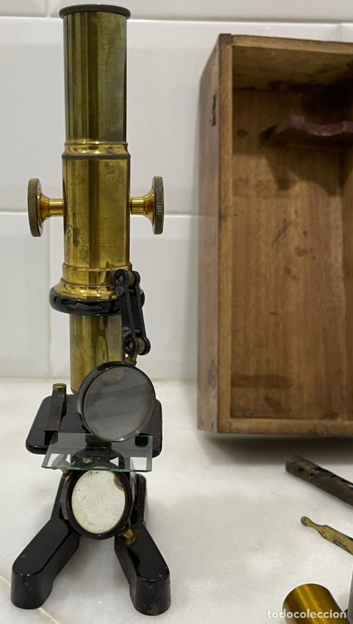 Antigüedades: ANTIGUO MICROSCOPIO FRANCÉS DE LATÓN SIGLO XIX - Foto 14 - 244768575