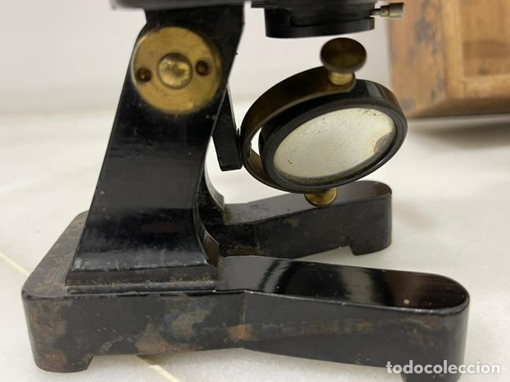 Antigüedades: ANTIGUO MICROSCOPIO FRANCÉS DE LATÓN SIGLO XIX - Foto 17 - 244768575