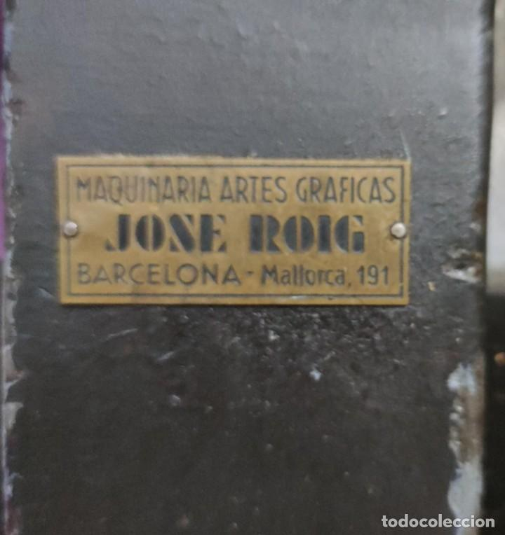 MÁQUINA PRENSA-GUILLOTINA ANTIGUA JOSE ROIG (Antigüedades - Técnicas - Herramientas Profesionales - Imprenta)