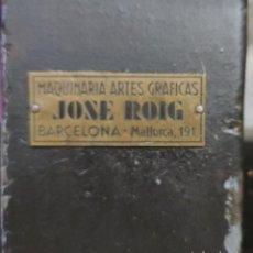 Antigüedades: MÁQUINA PRENSA-GUILLOTINA ANTIGUA JOSE ROIG. Lote 244838230