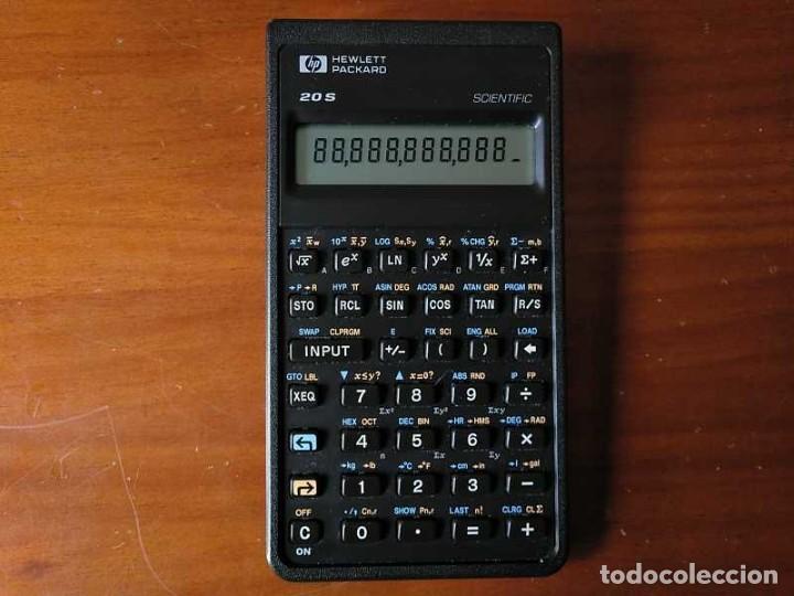 Antigüedades: CALCULADORA HP 20S HEWLETT PACKARD CIENTIFICA SCIENTIFIC HP-20S ELECTRONIC CALCULATOR AÑOS 80. - Foto 3 - 244978680
