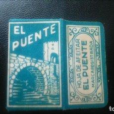 Antigüedades: HOJA DE AFEITAR - CUCHILLA DE AFEITAR - EL PUENTE - SOLO FUNDA. Lote 244987945