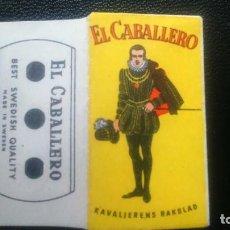 Antigüedades: HOJA DE AFEITAR - CUCHILLA DE AFEITAR - EL CABALLERO - SOLO FUNDA. Lote 244988410