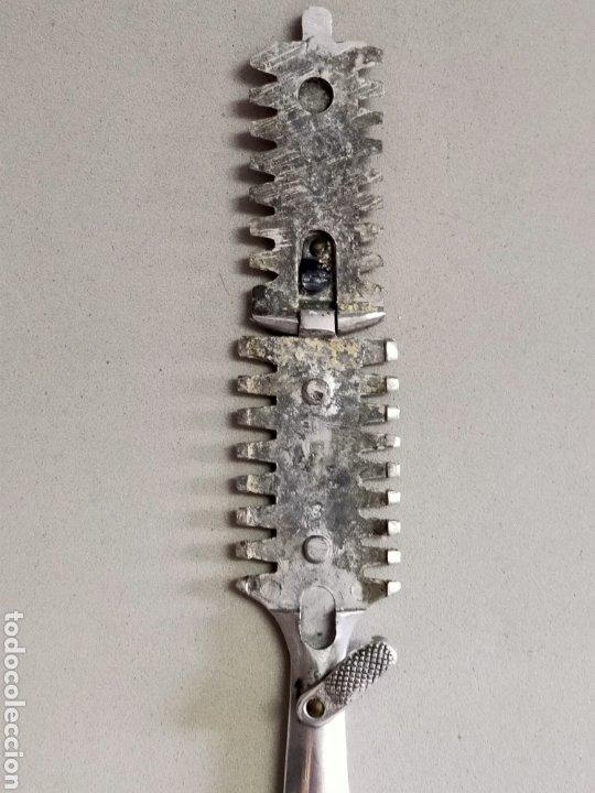 Antigüedades: NAVAJA CORTAPELO PEINE METAL - Foto 5 - 245039145