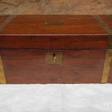 Antigüedades: ESCRIBANIA CAOBA BARCO SXIX. Lote 245059370