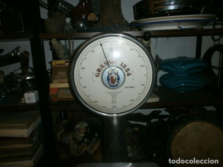 Antigüedades: Antigua Bascula Grasso 1854 Genova altura 65 cm. ancho 40X30 cm. sin nivelar - para engrasar - Foto 3 - 245068605