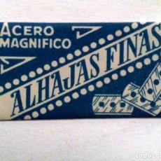 Antigüedades: HOJA DE AFEITAR ANTIGUA,ALHAJAS FINAS (0,50 PTAS) ACERO MAGNIFICO,J.VOLLMER.. Lote 245246955