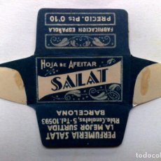 Antigüedades: FUNDA HOJA DE AFEITAR ANTIGUA,SALAT (PTS.0'10) PERFUMERIA SALAT,BARCELONA.. Lote 245248215
