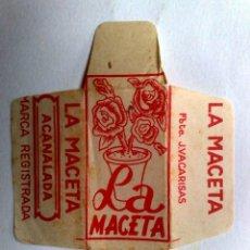Antigüedades: FUNDA HOJA DE AFEITAR ANTIGUA,LA MACETA ACANALADA.. Lote 245248600