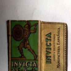 Antigüedades: FUNDA HOJA DE AFEITAR ANTIGUA,INVICTA DE LUXE QUALITY.. Lote 245249220