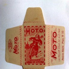 Antigüedades: FUNDA HOJA DE AFEITAR ANTIGUA,MOTO (PTAS.0'35) BASSAT.. Lote 245249930