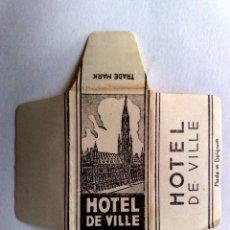 Antigüedades: FUNDA HOJA DE AFEITAR ANTIGUA,HOTEL DE VILLE.. Lote 245250940