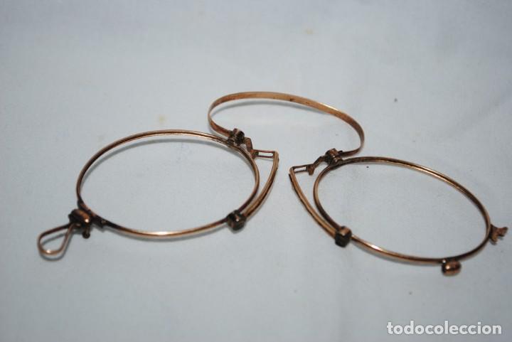 Antigüedades: ANTIGUAS GAFAS TIPO QUEVEDO . - Foto 2 - 245285265