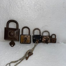 Antigüedades: LOTE DE 5 CANDADOS. Lote 245298110