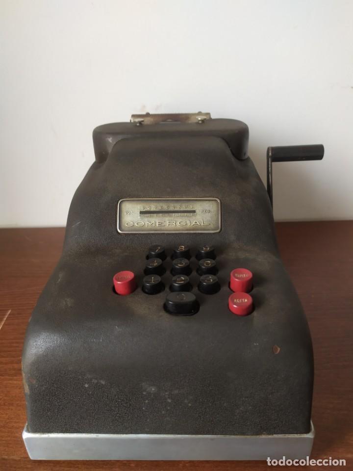 SUMADORA CALCULADORA COMERCIAL ANTIGUA (Antigüedades - Técnicas - Aparatos de Cálculo - Calculadoras Antiguas)