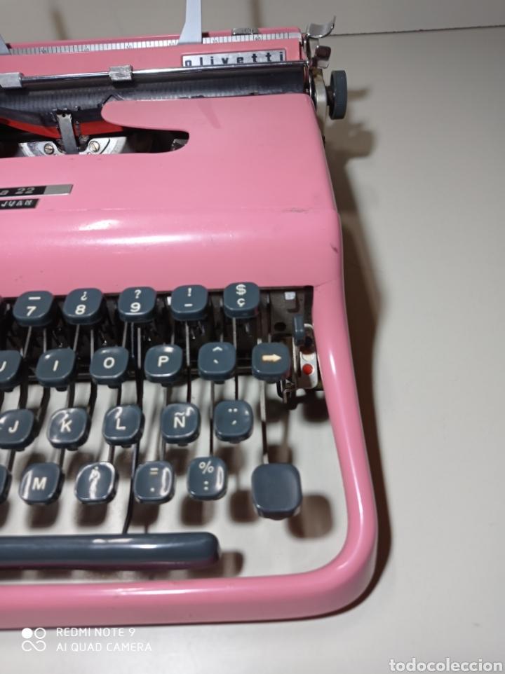 Antigüedades: Bonita máquina de escribir Hispano Olivetti, Pluma 22, la rosa, buscada y difícil de encontrar. - Foto 7 - 245353335