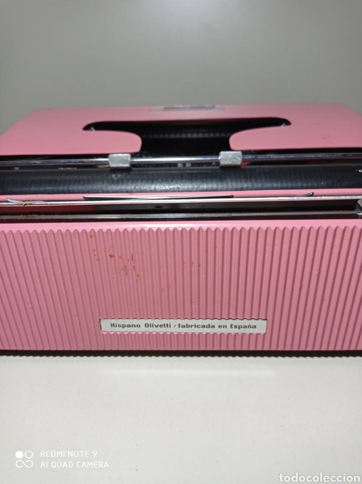 Antigüedades: Bonita máquina de escribir Hispano Olivetti, Pluma 22, la rosa, buscada y difícil de encontrar. - Foto 11 - 245353335