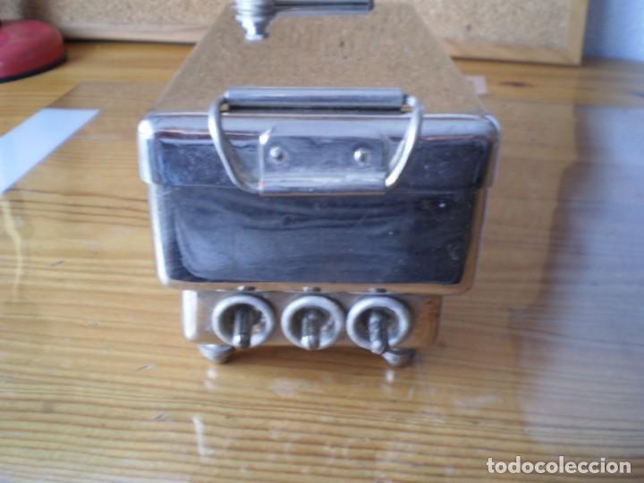 Antigüedades: esterilizador material medico acero inoxidable - Foto 2 - 245358140
