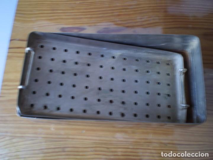 Antigüedades: esterilizador material medico acero inoxidable - Foto 3 - 245358140