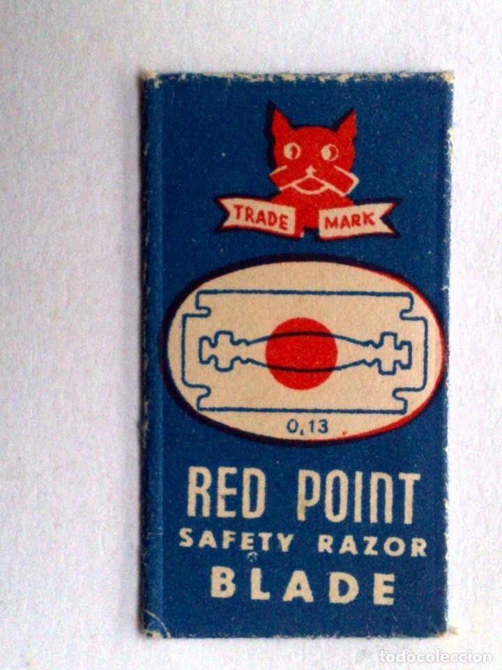 HOJA DE AFEITAR ANTIGUA,RED POINT,SAFETY RAZOR BLADE. (Antigüedades - Técnicas - Barbería - Hojas de Afeitar Antiguas)