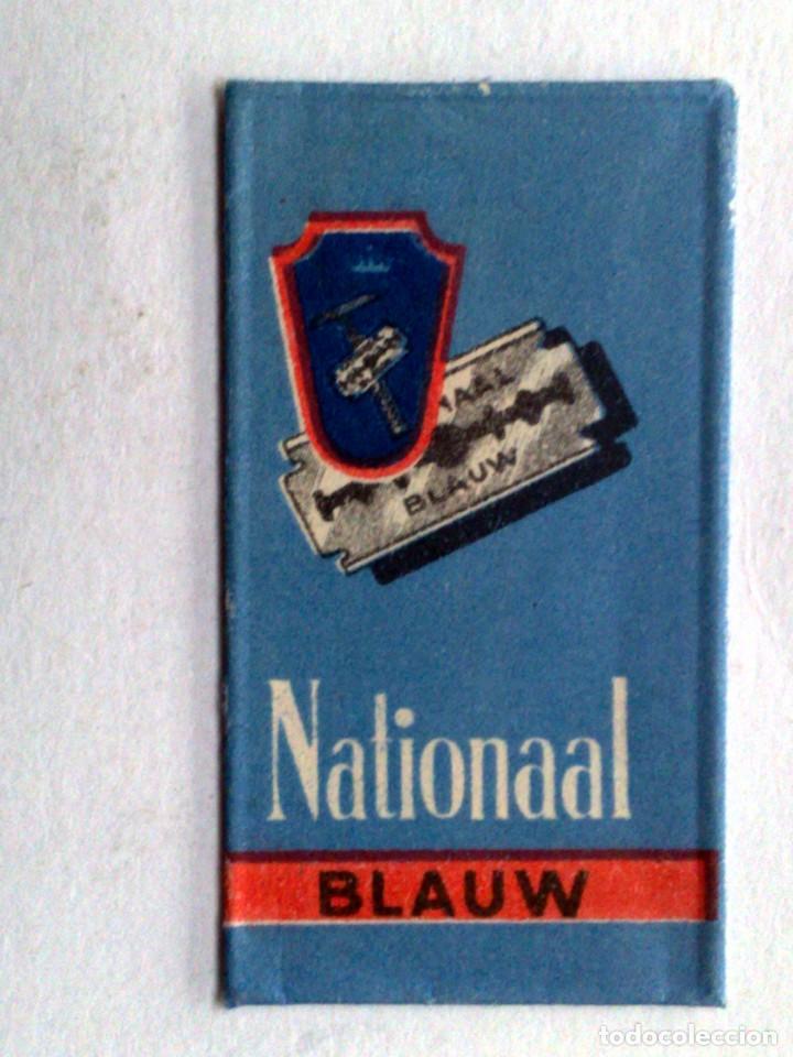 HOJA DE AFEITAR ANTIGUA,NATIONAAL BLAUW. (Antigüedades - Técnicas - Barbería - Hojas de Afeitar Antiguas)