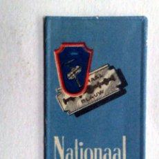 Antigüedades: HOJA DE AFEITAR ANTIGUA,NATIONAAL BLAUW.. Lote 245364890