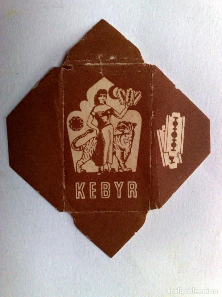 FUNDA HOJA DE AFEITAR ANTIGUA,KEBYR. (Antigüedades - Técnicas - Barbería - Hojas de Afeitar Antiguas)