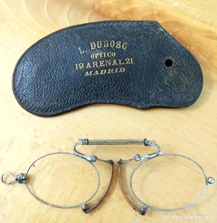 QUEVEDOS ÓPTICO L. DUBOSC ARENAL 21 MADRID (Antigüedades - Técnicas - Instrumentos Ópticos - Gafas Antiguas)