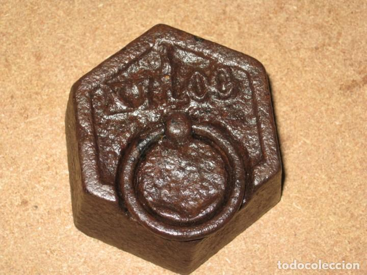 Antigüedades: Lote de 2 ponderales, pesas de 1 kilo. - Foto 4 - 245474345
