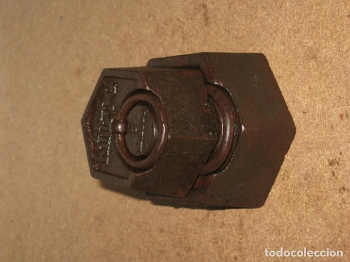 Antigüedades: Lote de 2 ponderales, pesas de 1 kilo y medio kilo. - Foto 2 - 245476570