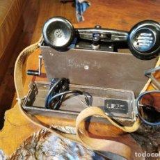 Teléfonos: TELEFONO ANTIGUO MILITAR DE CAMPAÑA MARCA ERICSSON ML COMPLETO. Lote 245638250