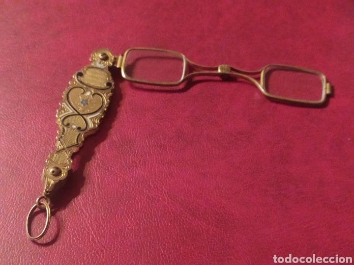 IMPERTINENTES DE TEATRO O GAFAS PEGABLES BONITOS ADORNOS (Antigüedades - Técnicas - Instrumentos Ópticos - Gafas Antiguas)
