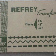 Antigüedades: ANTIGUO MANUAL INSTRUCCIONES.MAQUINA COSER REFREY TRANSFORMA 407.417.427.FREIRE S.A VIGO.1969??. Lote 245735090
