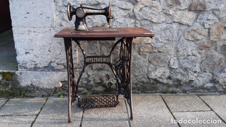 MAQUINA DE COSER (Antigüedades - Técnicas - Máquinas de Coser Antiguas - Singer)