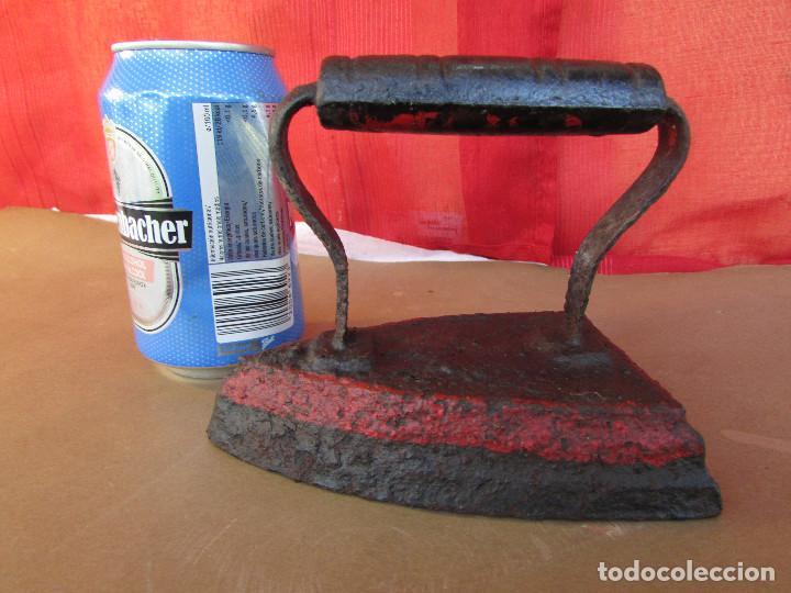 Antigüedades: PLANCHA de HIERRO MACIZO, para CALENTAR por CONTACTO. Antigua - Foto 6 - 245758965
