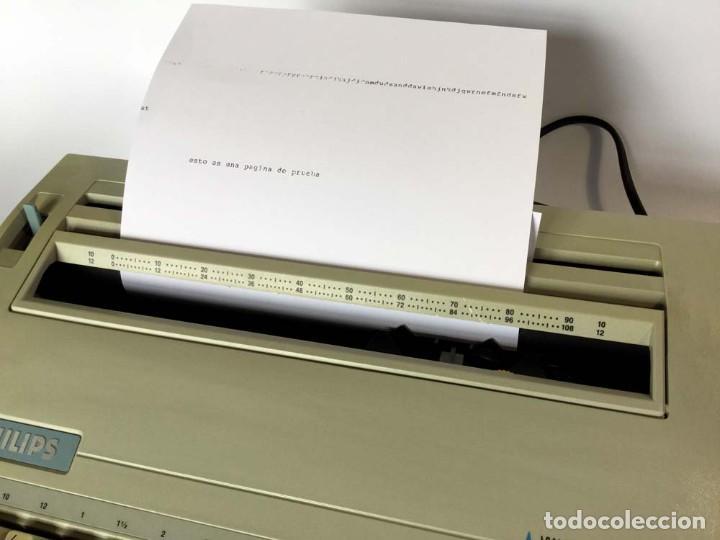 Antigüedades: Máquina de escribir eléctrica Philips VW 2110 Handy Writer - Foto 3 - 245984545
