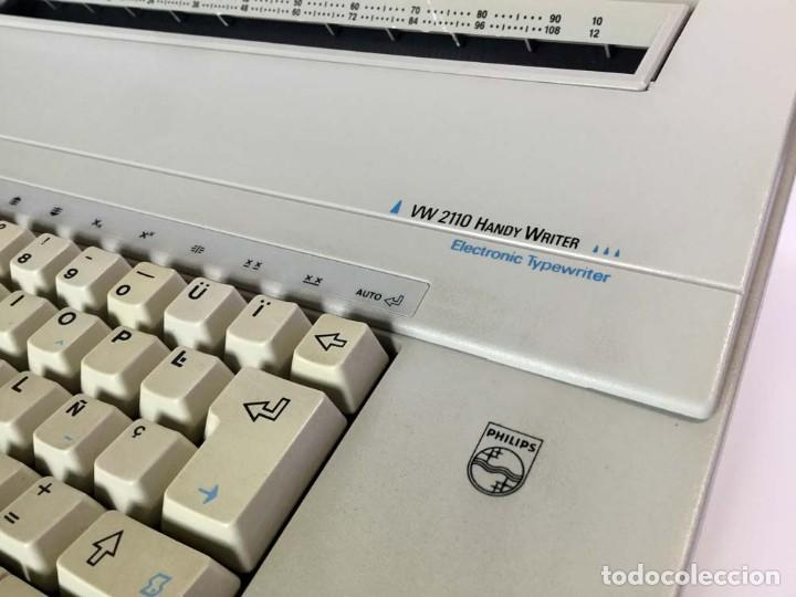 Antigüedades: Máquina de escribir eléctrica Philips VW 2110 Handy Writer - Foto 4 - 245984545
