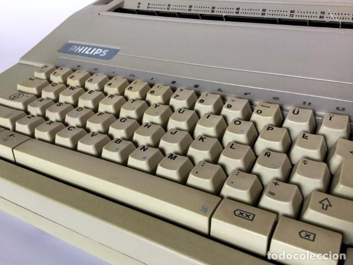 Antigüedades: Máquina de escribir eléctrica Philips VW 2110 Handy Writer - Foto 5 - 245984545