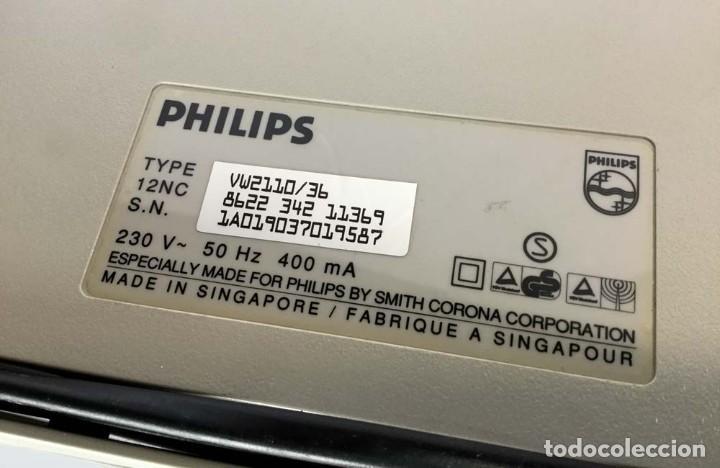 Antigüedades: Máquina de escribir eléctrica Philips VW 2110 Handy Writer - Foto 11 - 245984545