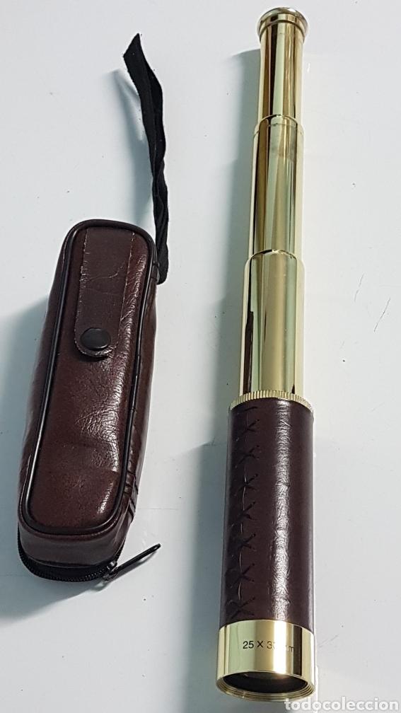 CATALEJO DORADO 25X30 TELESCOPICO (Antigüedades - Técnicas - Instrumentos Ópticos - Catalejos Antiguos)