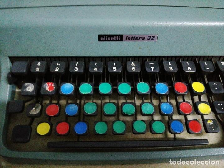 Antigüedades: Máquina de escribir Olivetti letters 32 - Foto 2 - 246039085
