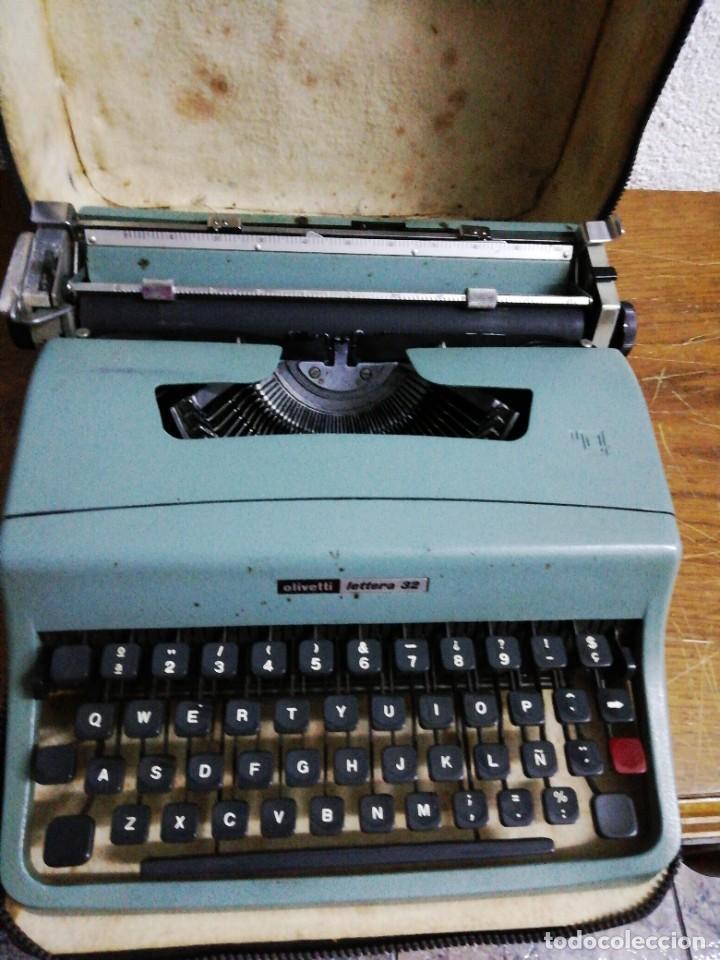 MÁQUINA DE ESCRIBIR OLIVETTI LETTERS 32 (Antigüedades - Técnicas - Máquinas de Escribir Antiguas - Olivetti)