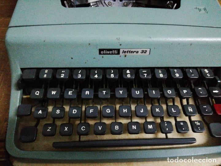 Antigüedades: Máquina de escribir Olivetti letters 32 - Foto 3 - 246039455