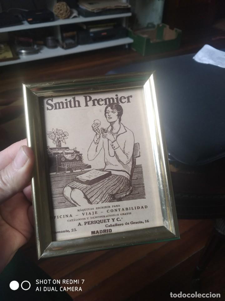 MÁQUINA DE ESCRIBIR PUBLICIDAD SMITH PREMIER (Antigüedades - Técnicas - Máquinas de Escribir Antiguas - Smith)