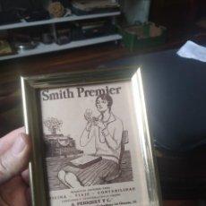 Antigüedades: MÁQUINA DE ESCRIBIR PUBLICIDAD SMITH PREMIER. Lote 246113170