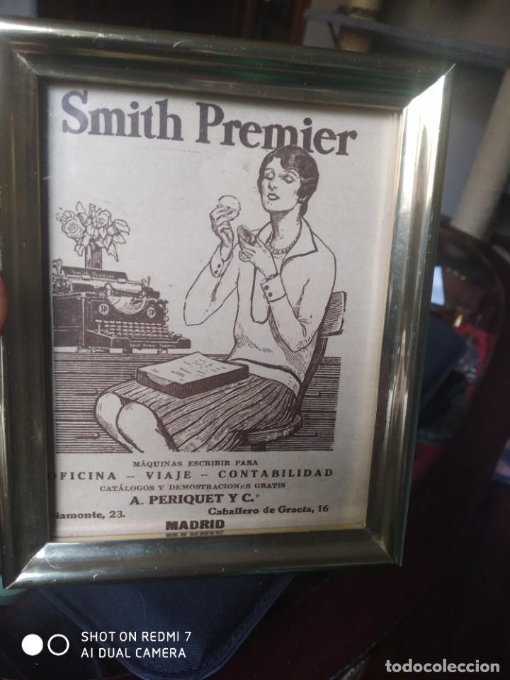 Antigüedades: Máquina de escribir publicidad Smith premier - Foto 2 - 246113170
